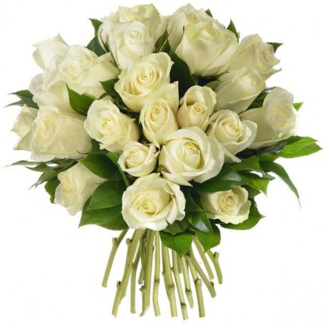 """Bouquet """"Amour blanc"""" • Roses blanches"""