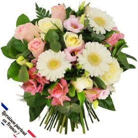 "Bouquet ""Coquette"" • Blanc & Rose"