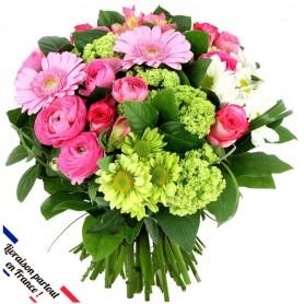 """Bouquet """"Ambassadeur"""" • Rose & Vert"""