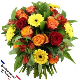 "Bouquet ""COCCINELLE"" • Jaune, Rouge & Orange"