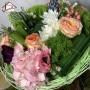 """Bouquet """"Collerette"""" aux couleurs douces"""