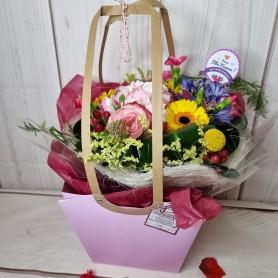Bouquet de Fleurs et sa bulle d'eau en Sac  !